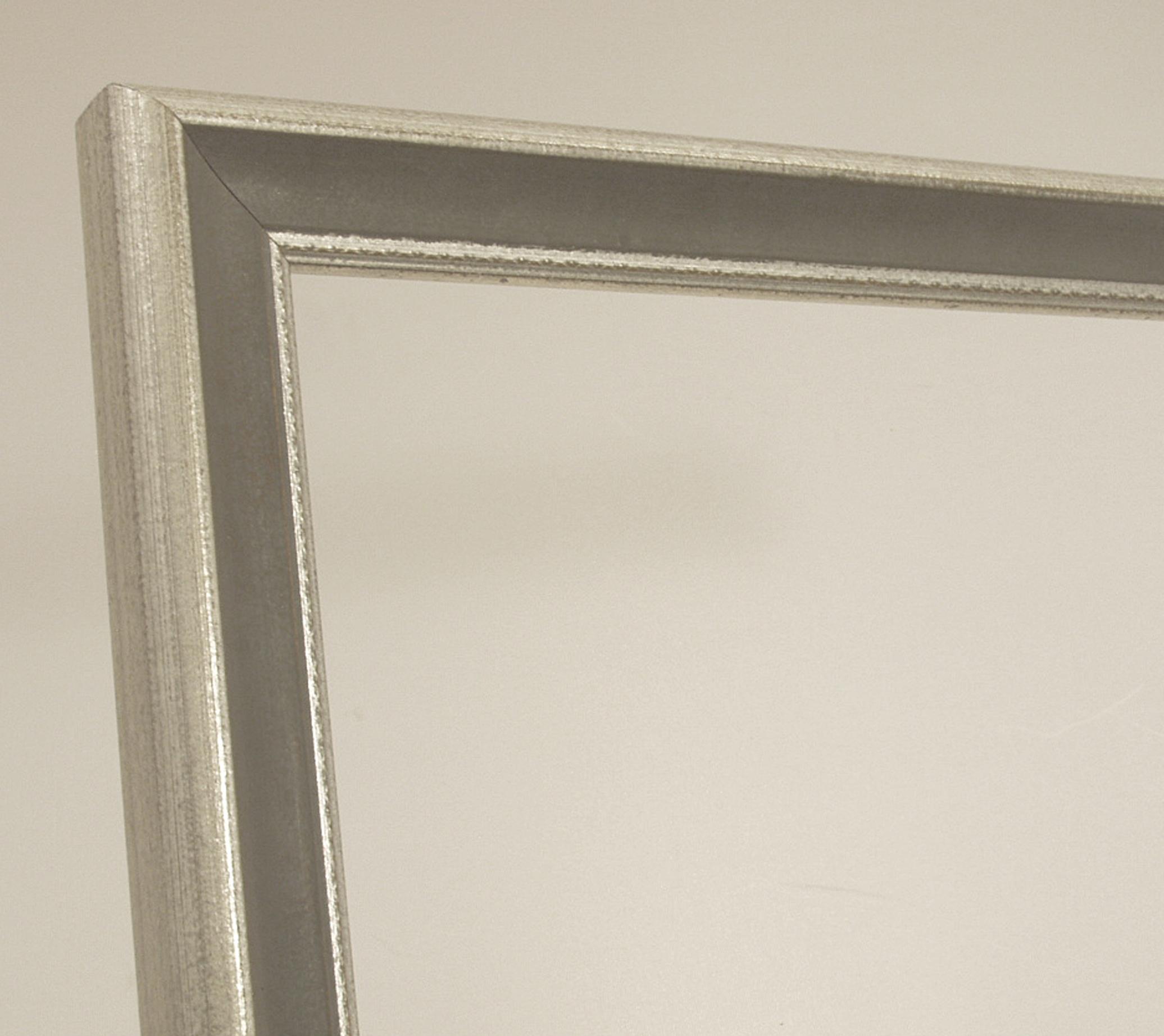 Bilderrahmen Louisa, Italienischer Bilderrahmen - Silber, Grau