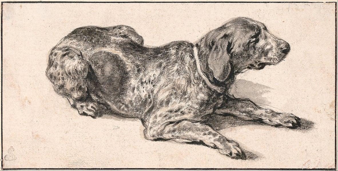 liegender hund von aelbert cuyp als kunstdruck 32752