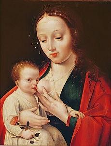 Kunstdruck Joos van Cleve Jungfrau und Kind