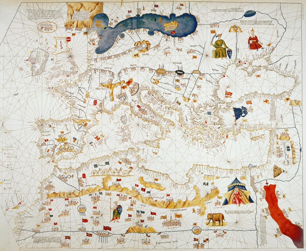 Kopie der katalanischen Karte von Europa, Nordafrika un... (#53730)