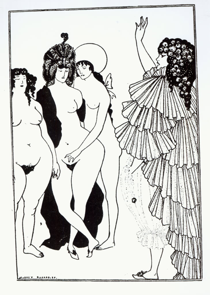 Illustration von Lysistrate von Aristophanes (c.445-c.385 BC) von Aubrey Beardsley