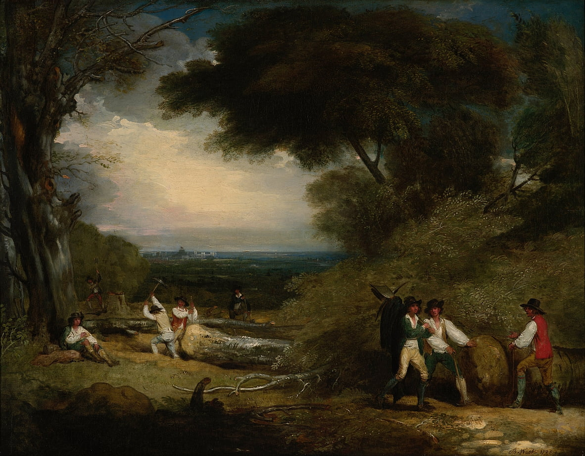 Holzfäller in Windsor Park von Benjamin West