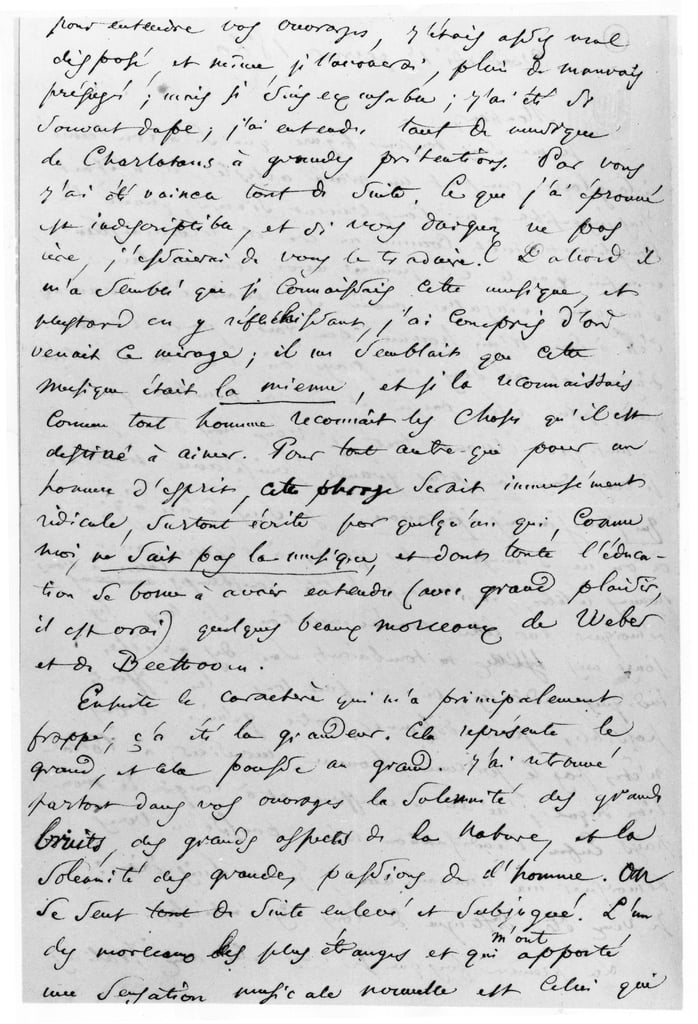 Brief an Richard Wagner (1813-1883) 17. Februar 1860 von Charles Pierre Baudelaire