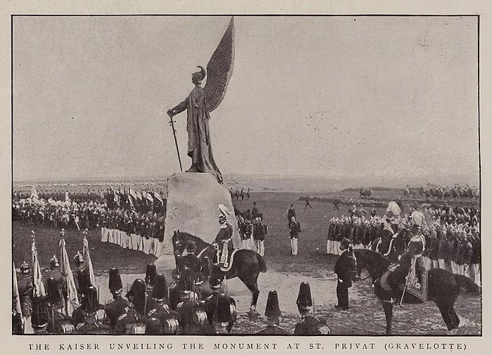 Der Kaiser, der das Monument bei St Privat, Gravelotte ... (#489665)