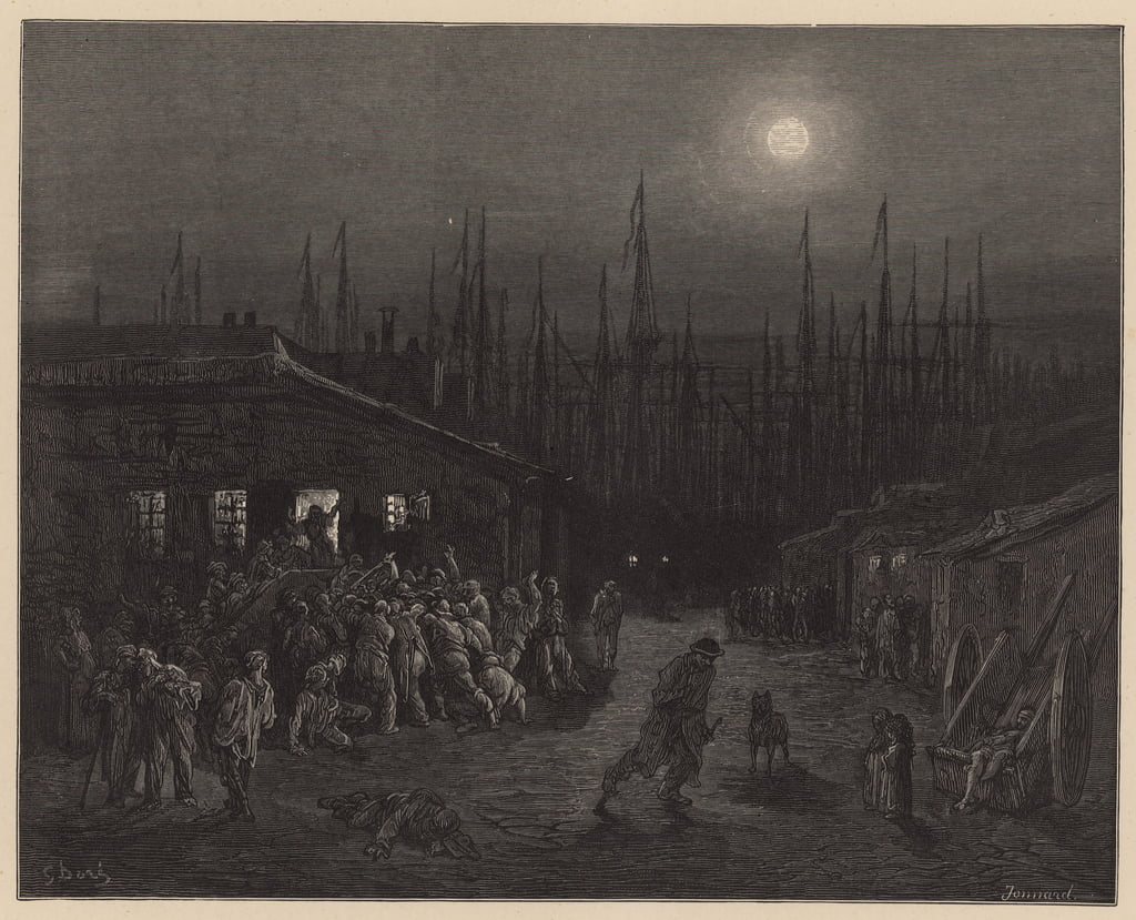 London Docklands von Gustave Dore