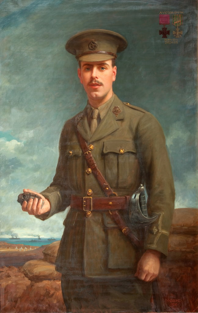 Oberleutnant Alfred Victor Smith, VC, 1916 von Isaac Cooke