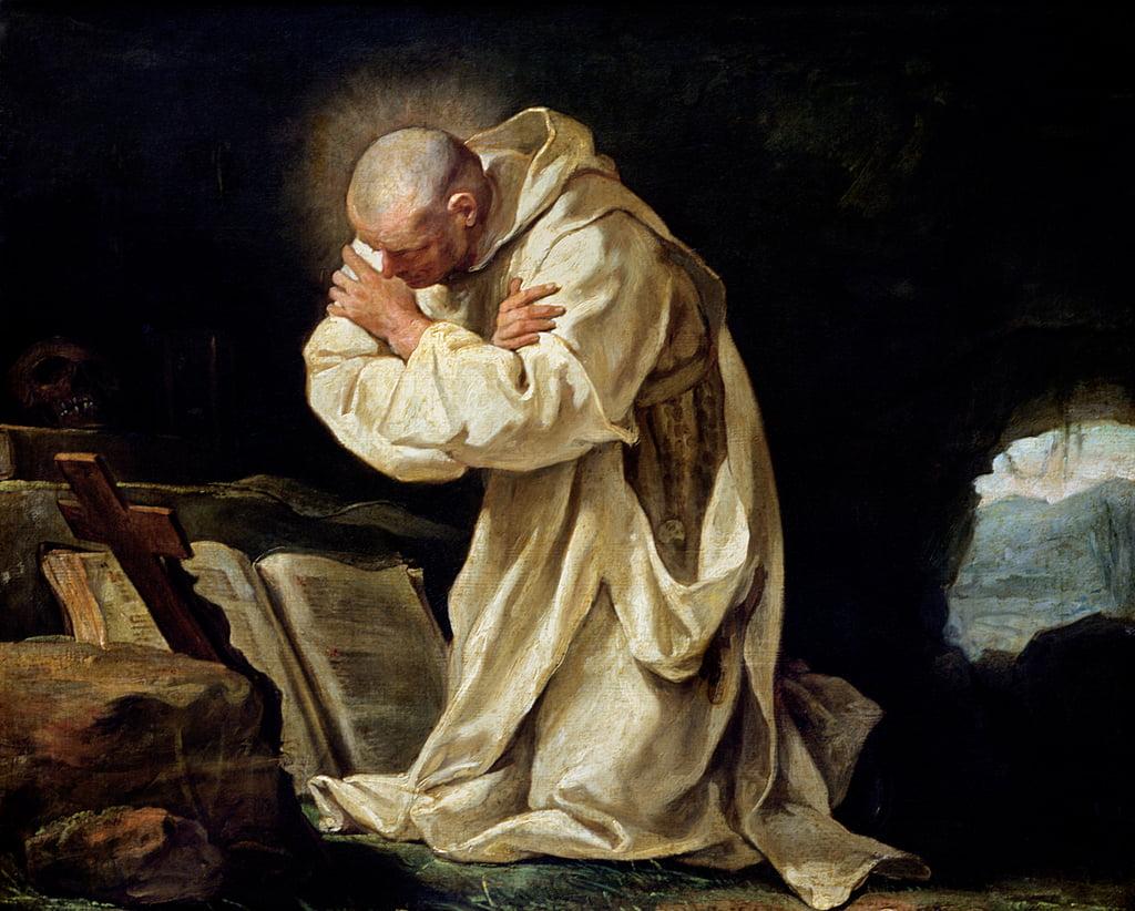 St. Bruno (1030-1101) Beten in der Wüste, 1763 von Jean Bernard Restout