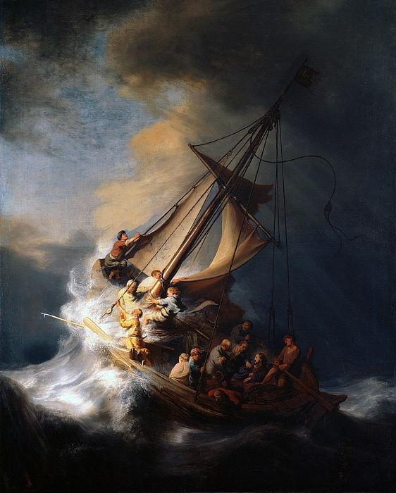 Christus im Sturm am See von Galiläa, 1633 von Rembrandt van Rijn
