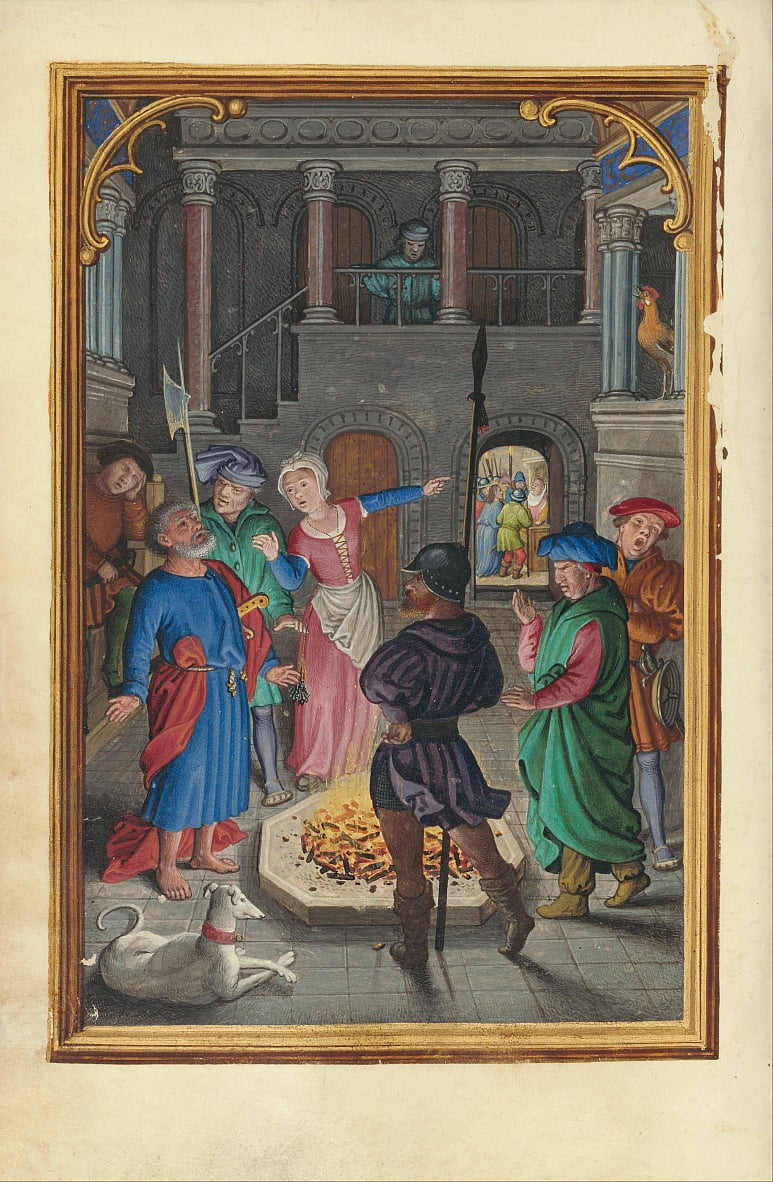 Die Denial of Saint Peter von Simon Bening