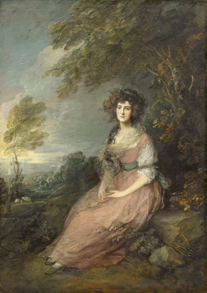 Frau Richard Brinsley Sheridan, 1785- 87 von Thomas Gainsborough