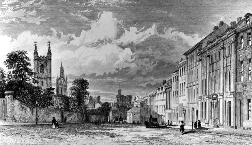 Westgate Street, Newcastle-upon-Tyne, graviert von William Collard, 1842 von Thomas Miles Richardson
