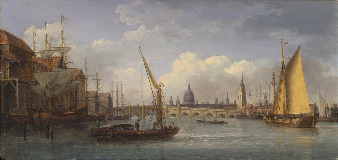 London Bridge, mit der St. Pauls Cathedral in der Ferne von William Anderson