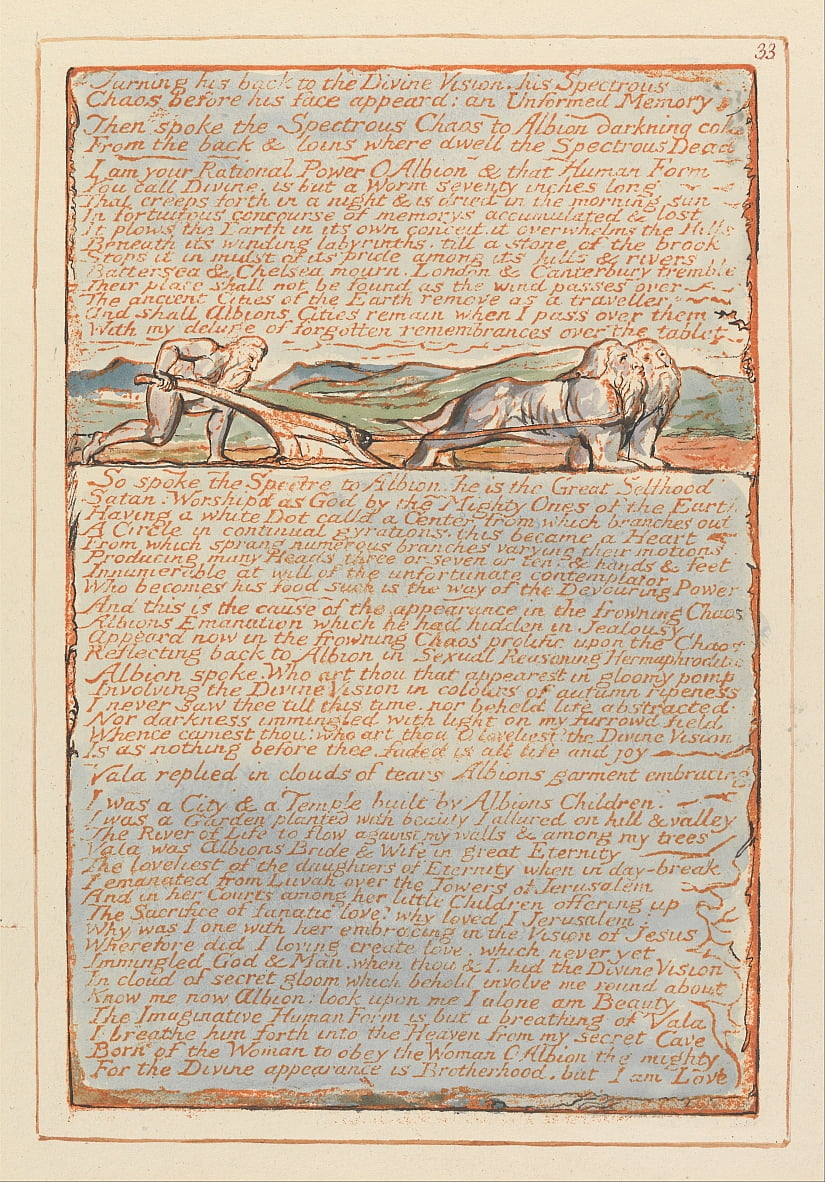 Jerusalem, Tafel 33, von William Blake