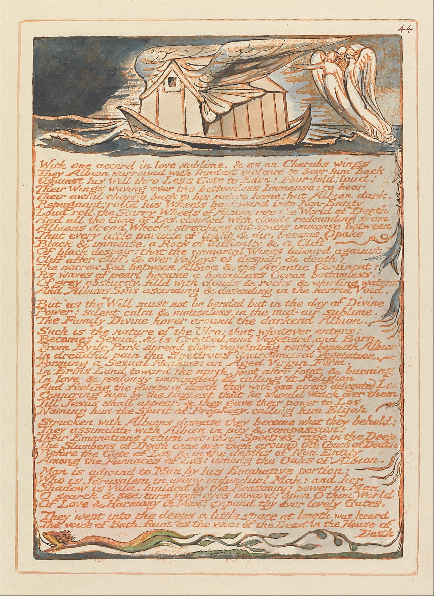 Jerusalem, Platte 44, von William Blake