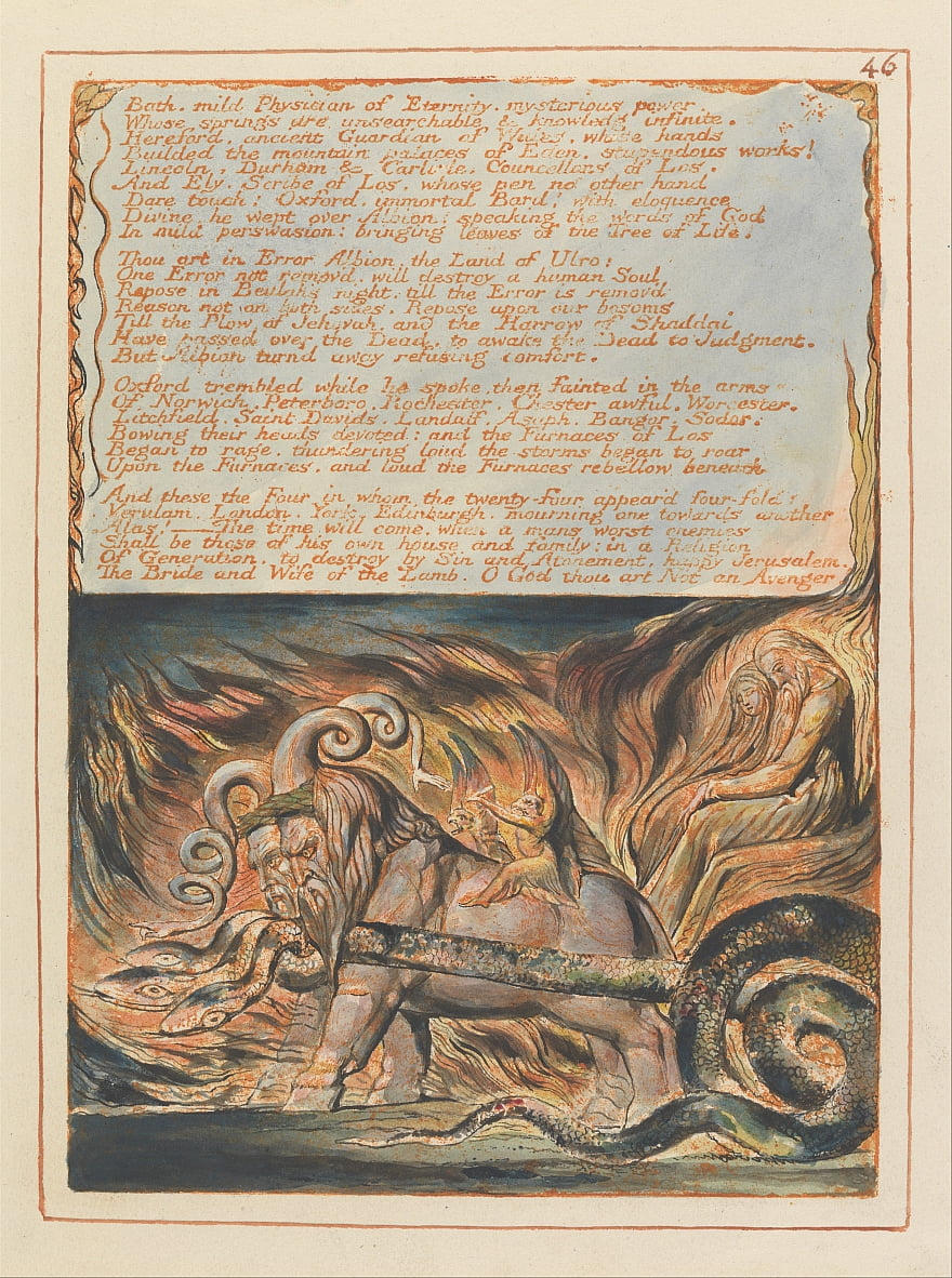 Jerusalem, Platte 46,  von William Blake