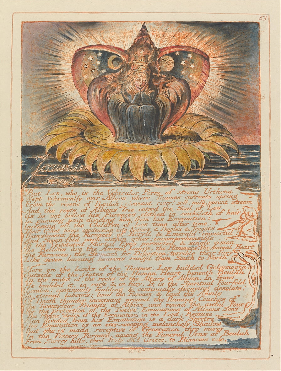 Jerusalem, Tafel 53, Jerusalem, Kap. 3 von William Blake