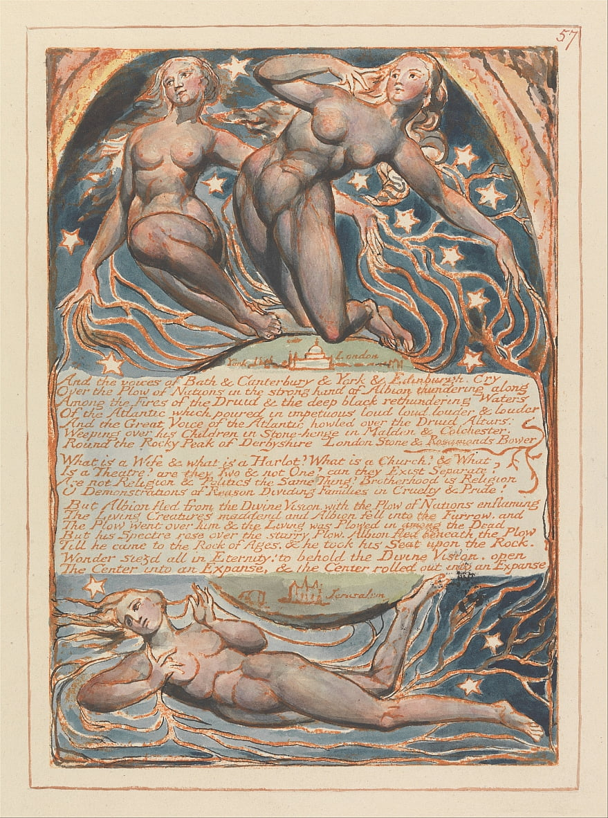 Jerusalem, Tafel 57, von William Blake