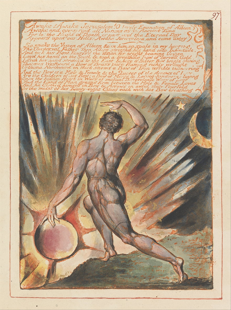 Jerusalem, Tafel 97, wach! Wach Jerusalem .... von William Blake