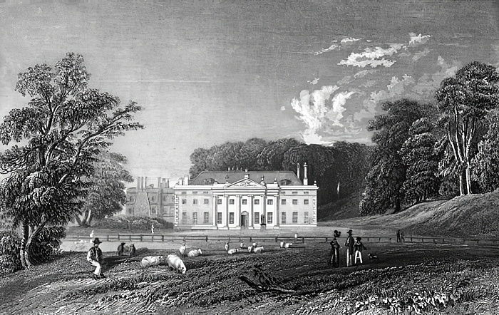 Weald Hall, Essex, graviert von John Rogers, 1833 von William Henry Bartlett
